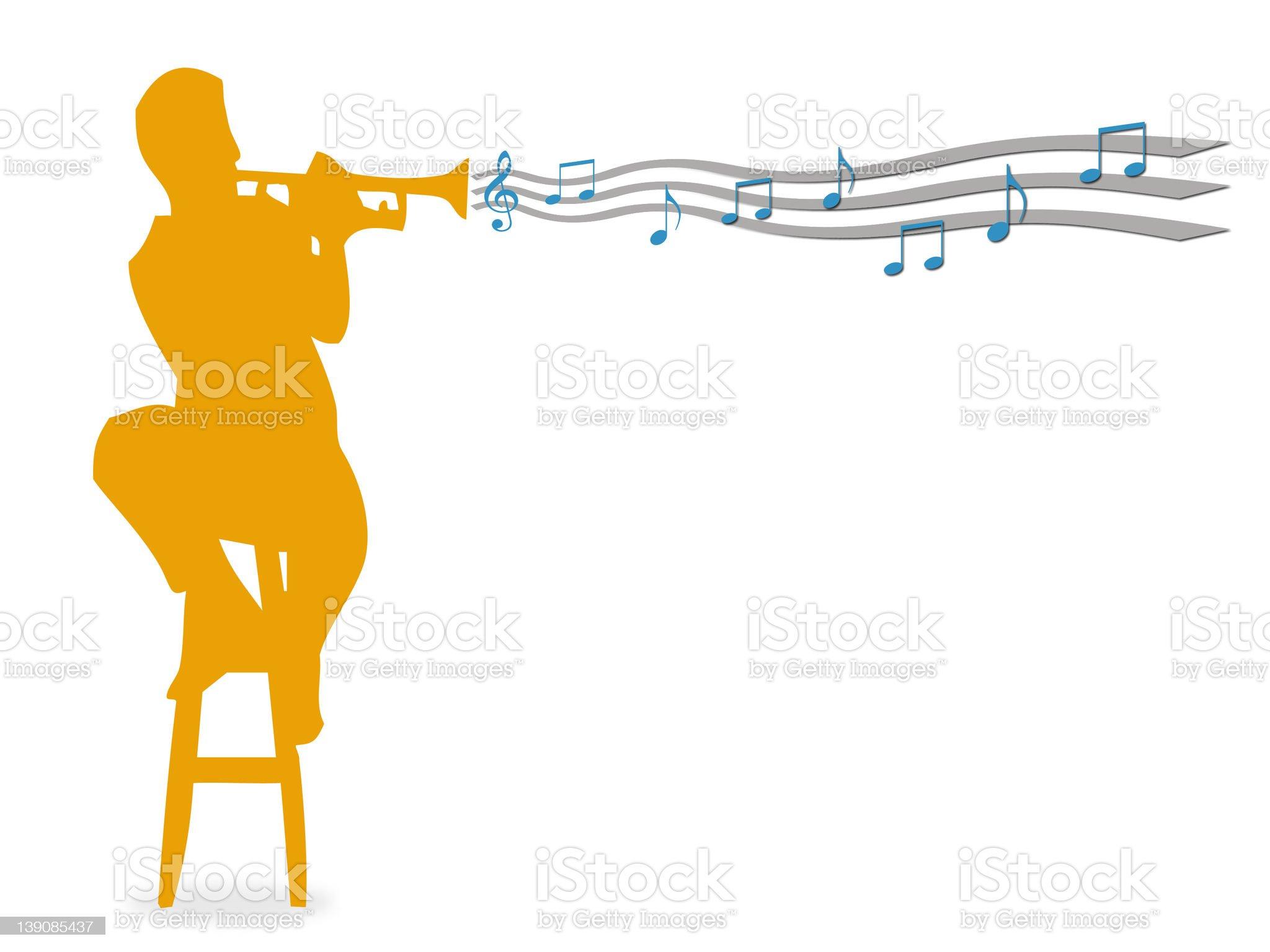 Trumpet 2 royalty-free stock photo