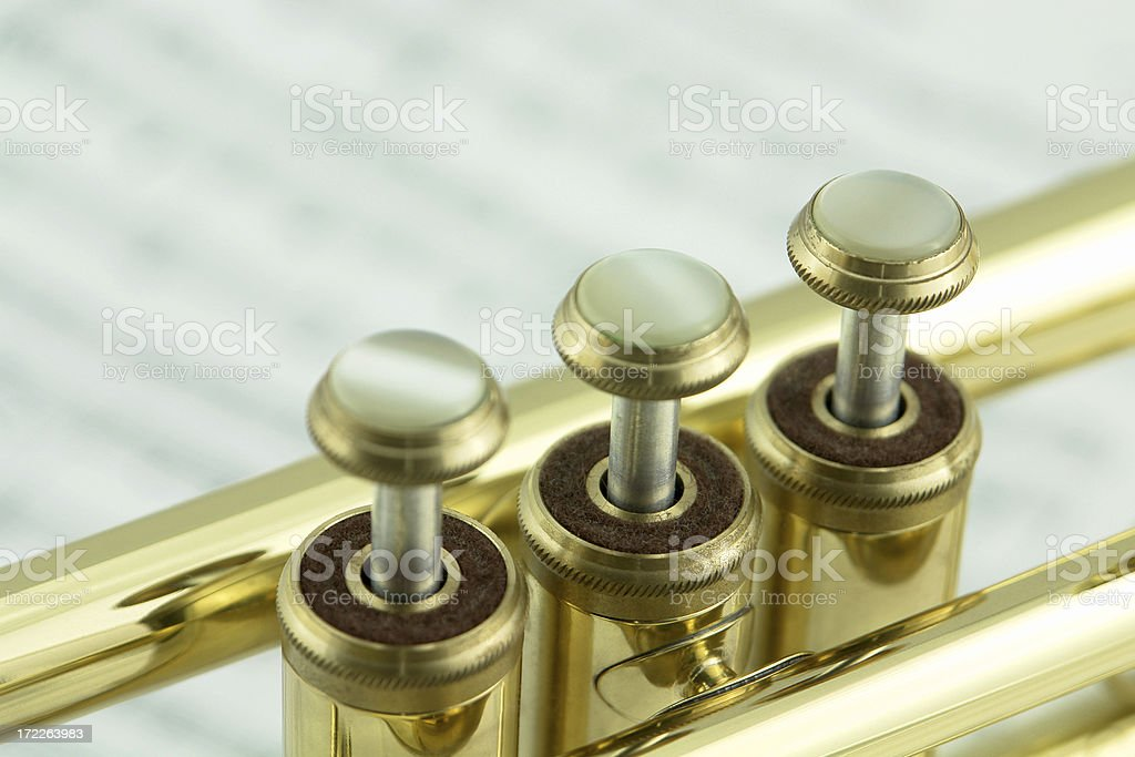 Trumpet and notes. royalty-free stock photo