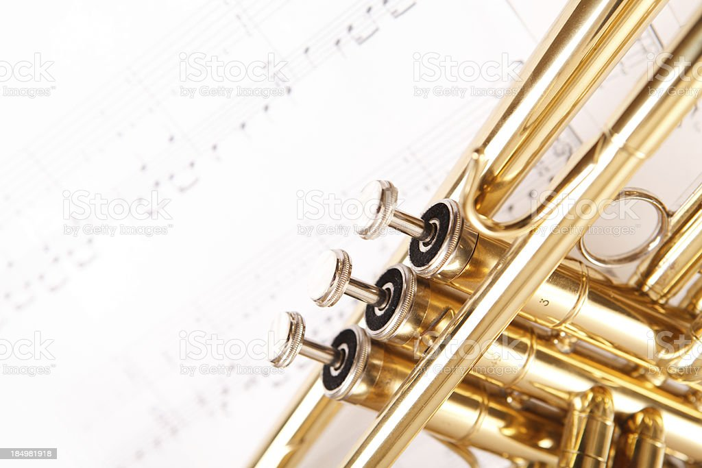 Trumpet and notes royalty-free stock photo
