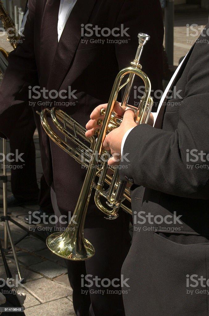 trumpet artist stock photo