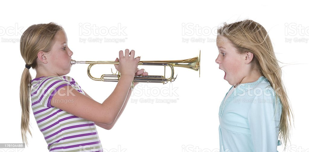 Trumpet Blow royalty-free stock photo