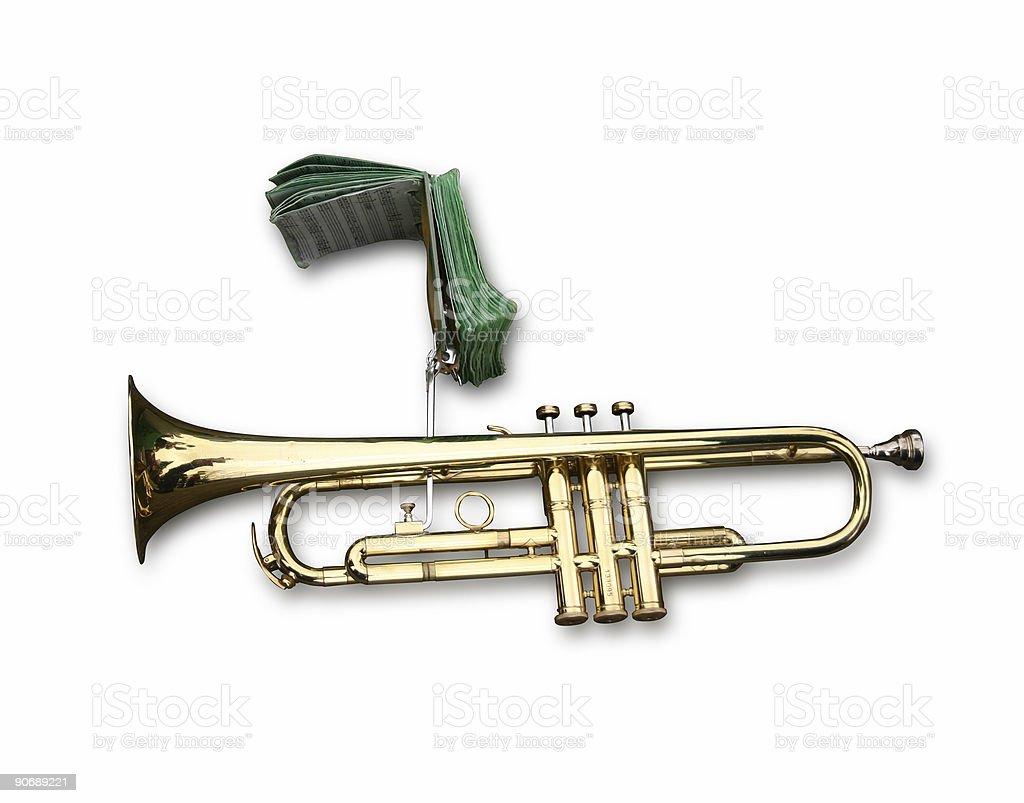 Trumpet brass instrument royalty-free stock photo