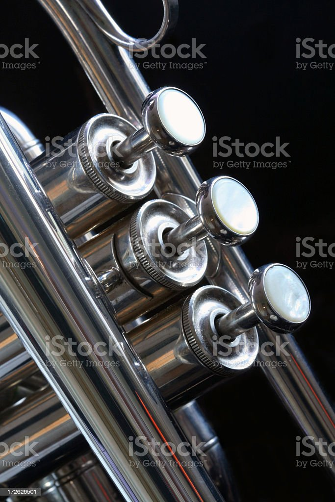 trumpet close up royalty-free stock photo