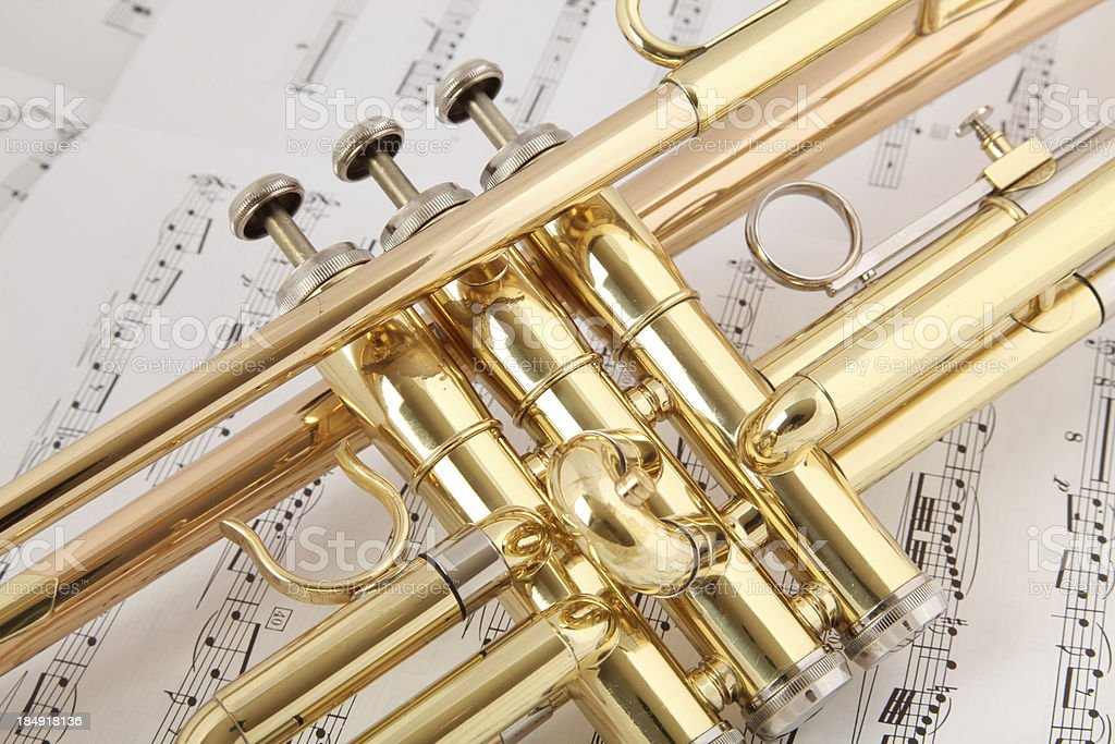 Trumpet Closeup royalty-free stock photo