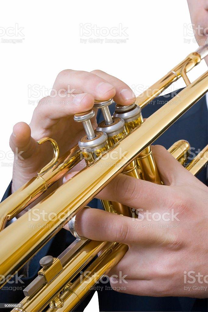 trumpet closeup royalty-free stock photo
