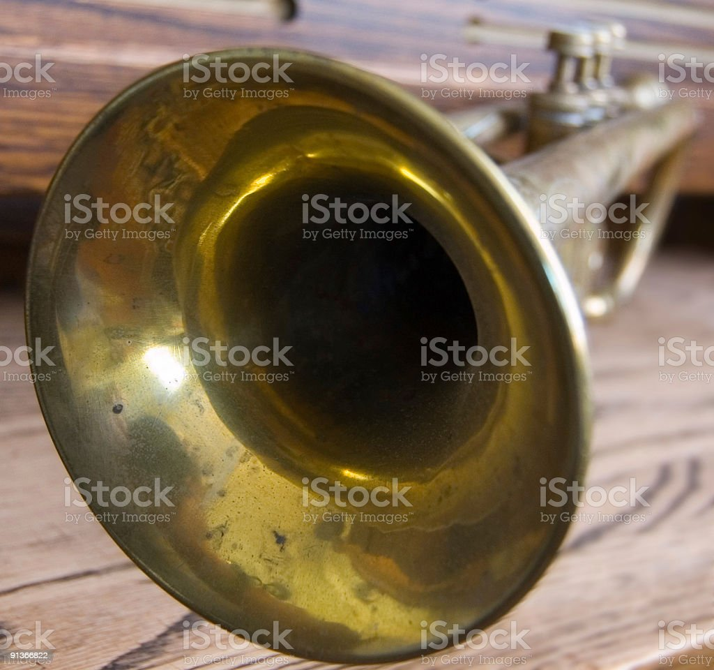 Trumpet Close-up royalty-free stock photo