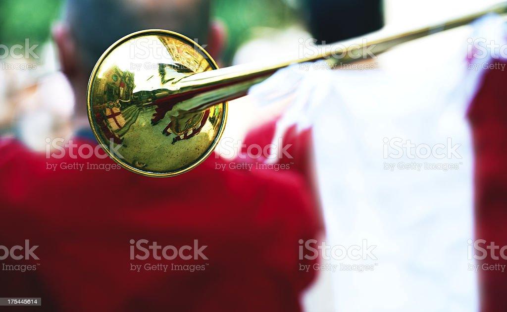 Trumpet. Color Image stock photo