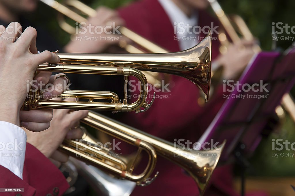 Trumpet Concert stock photo