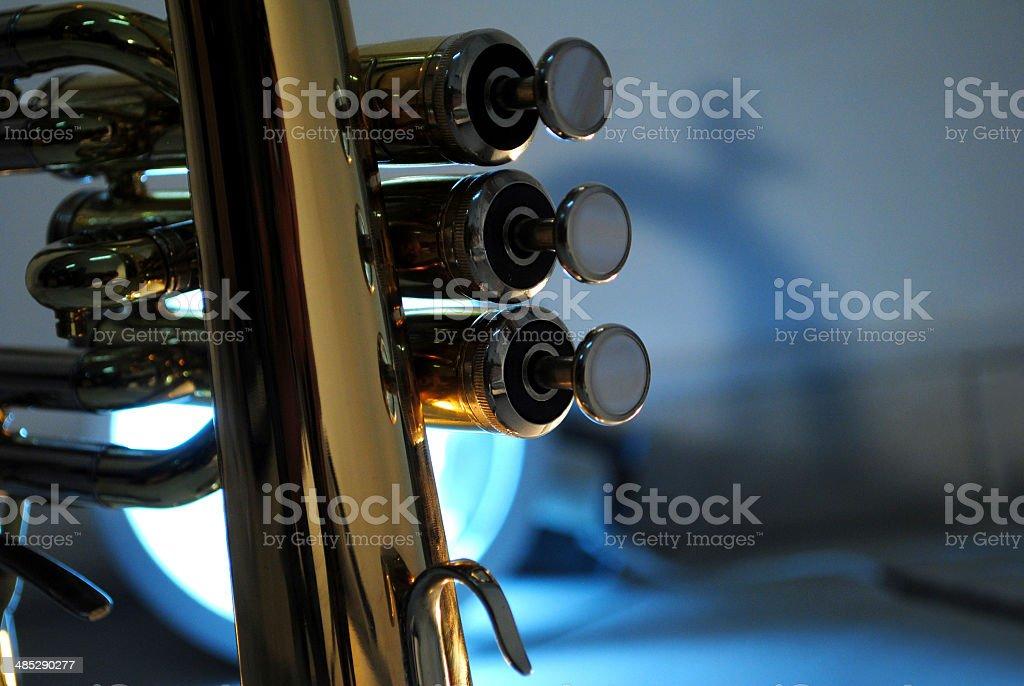 trumpet detail stock photo