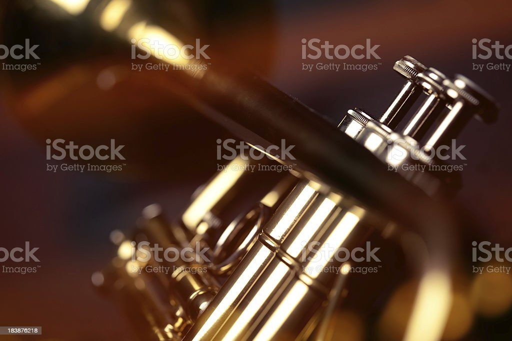Trumpet in a bar royalty-free stock photo