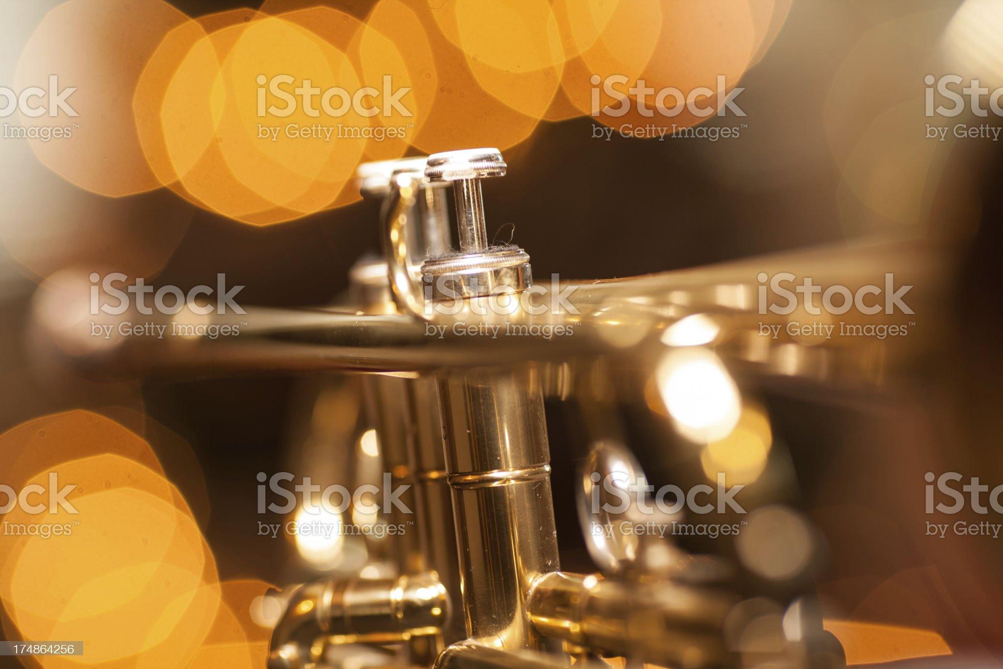 Trumpet in a nightclub royalty-free stock photo
