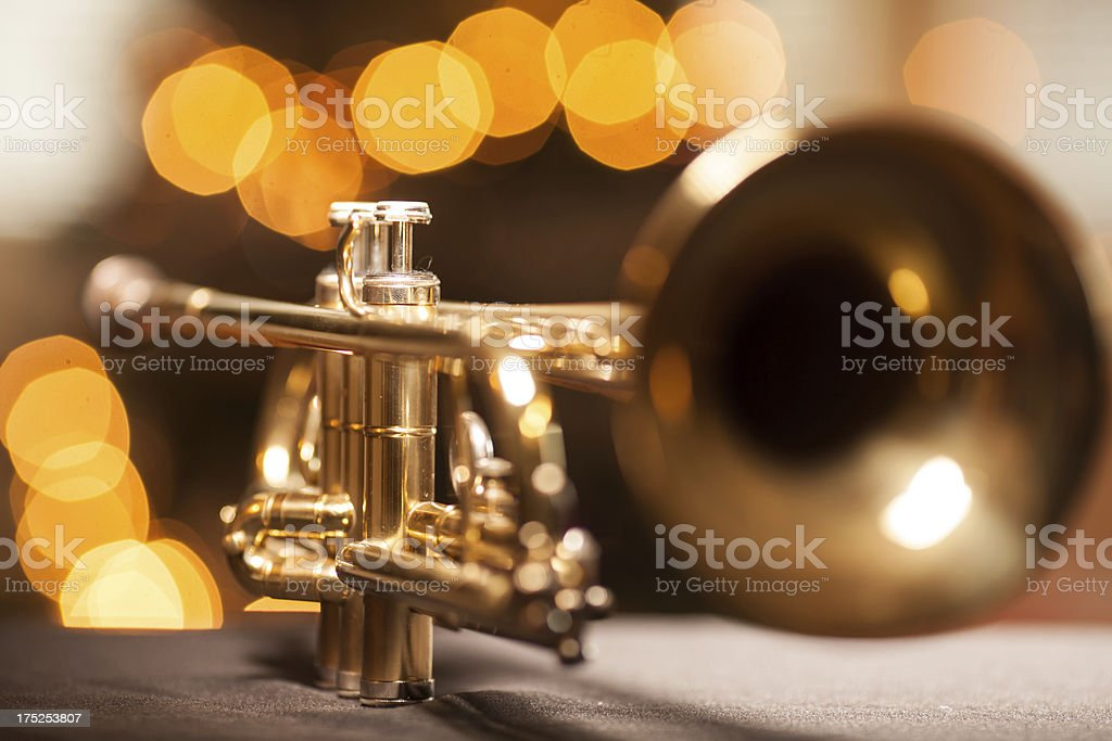 Trumpet in a nightclub royalty-free stock photo
