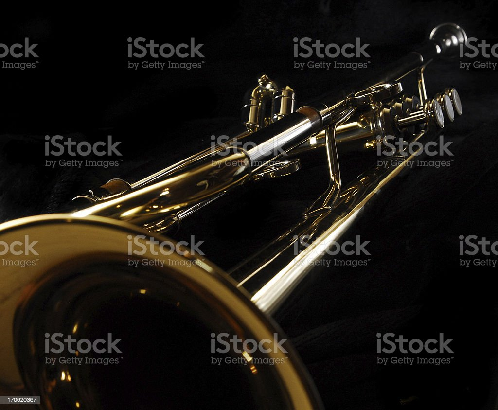 trumpet in perspective royalty-free stock photo