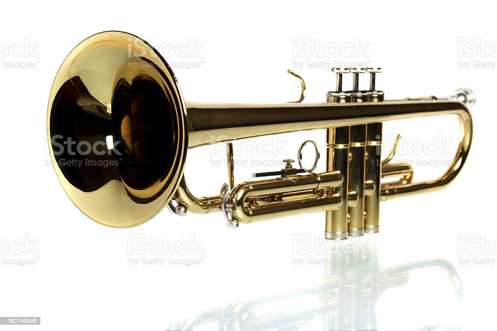 Trumpet isolated on white background royalty-free stock photo