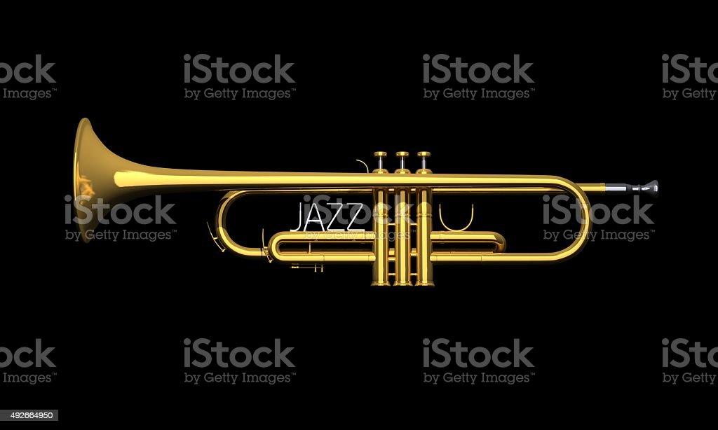 Trumpet ' JAZZ ' stock photo