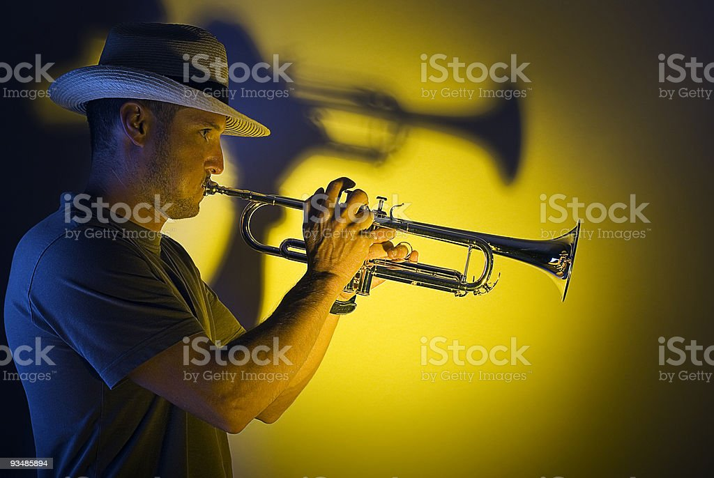 Trumpet jazz royalty-free stock photo
