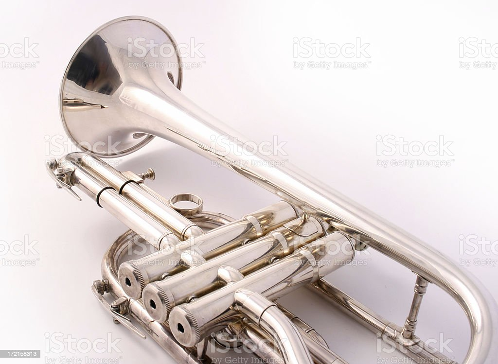 trumpet lying down royalty-free stock photo