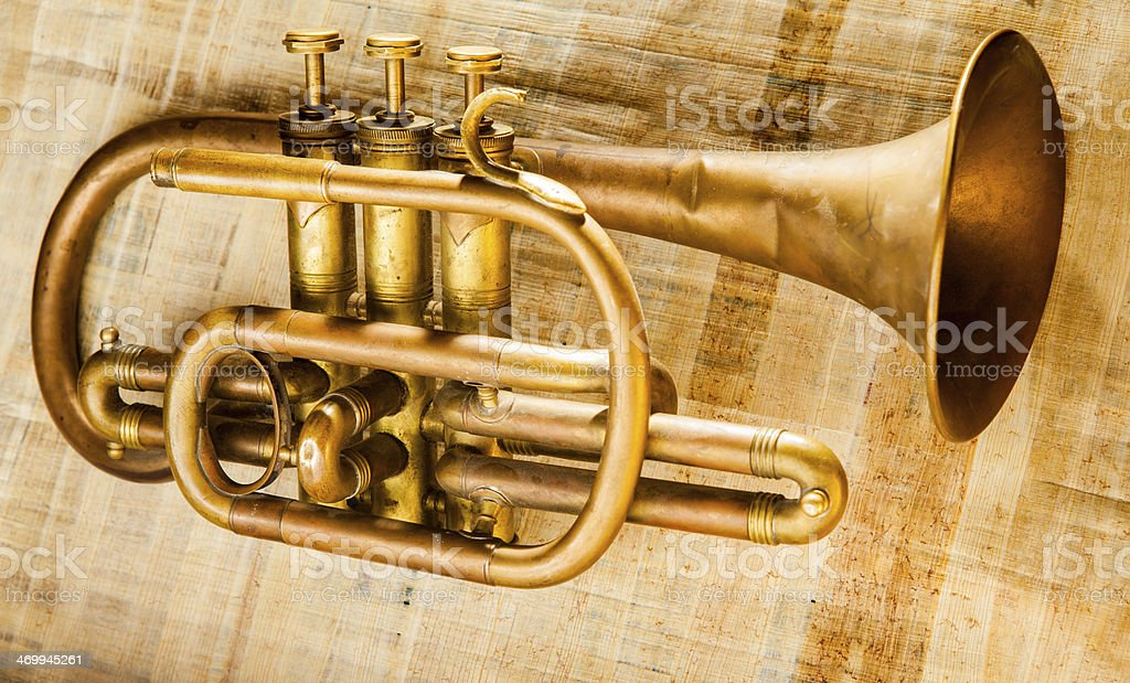 Trumpet royalty-free stock photo
