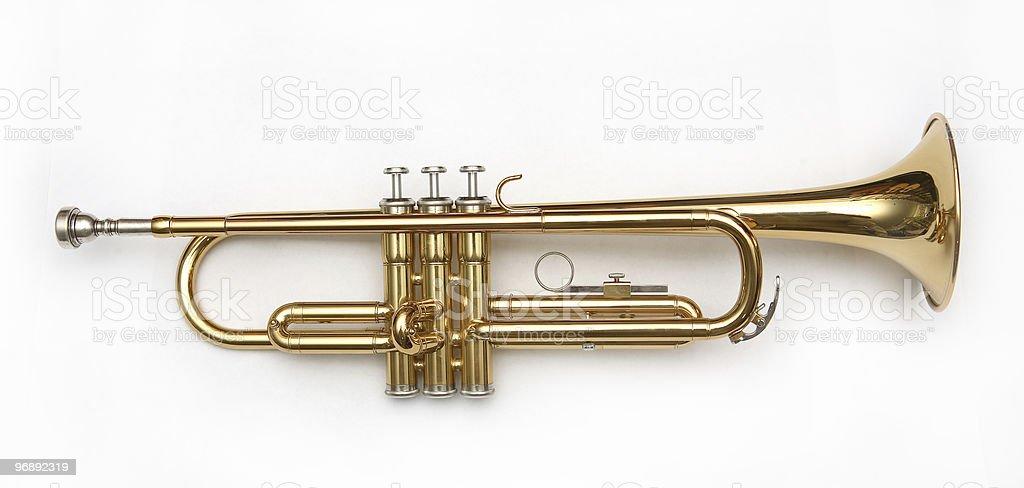 trumpet stock photo