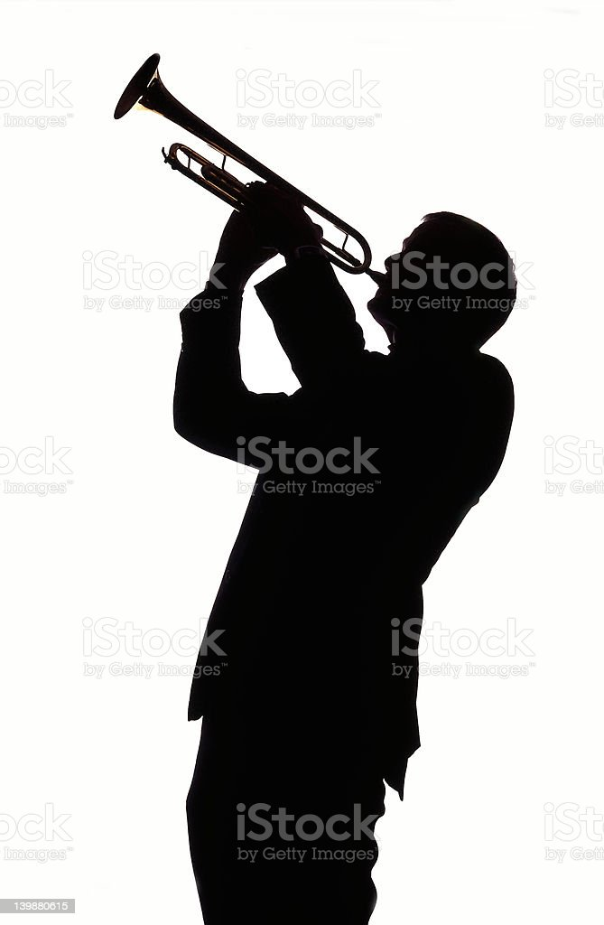 Trumpet Player 003 royalty-free stock photo