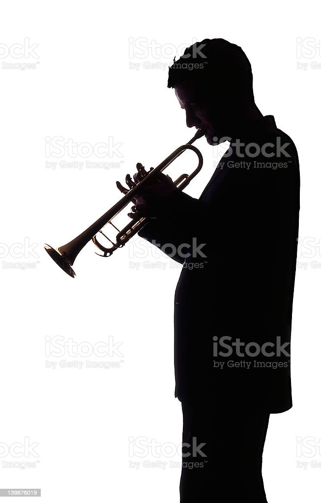 Trumpet Player 005 royalty-free stock photo