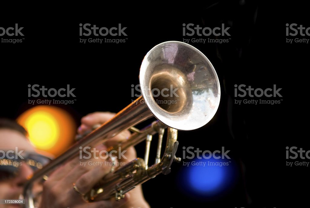 Trumpet Player stock photo