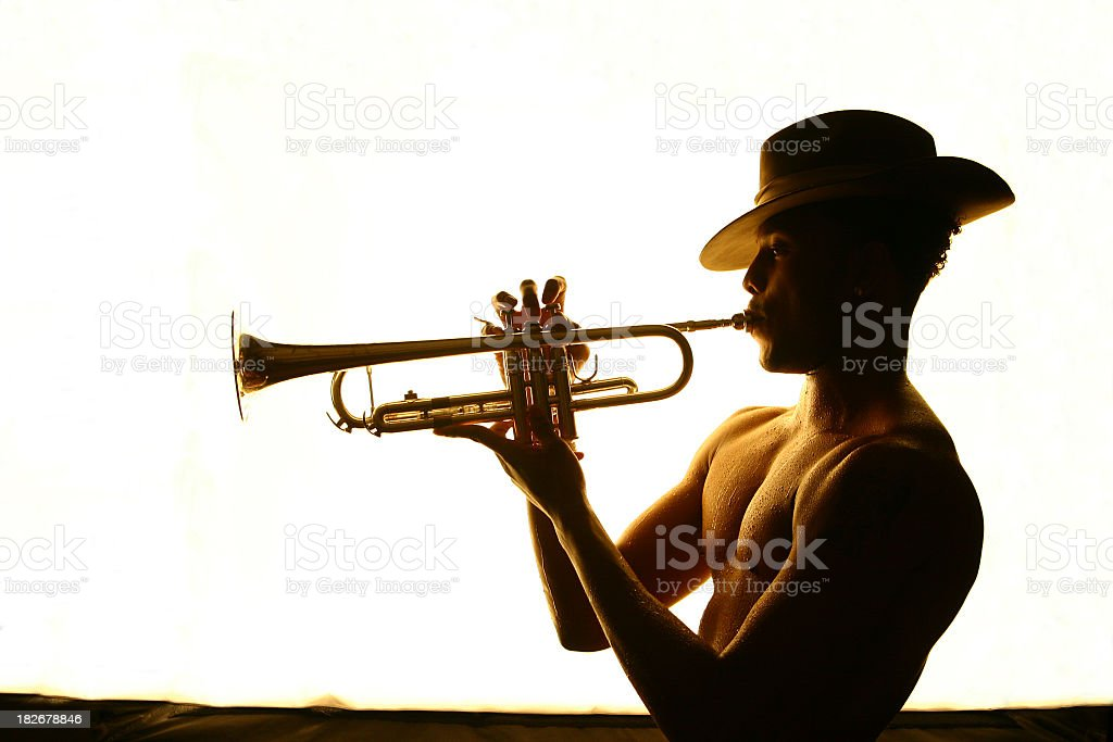 Trumpet Player #1 royalty-free stock photo