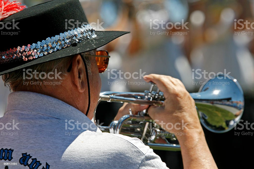 trumpet player royalty-free stock photo