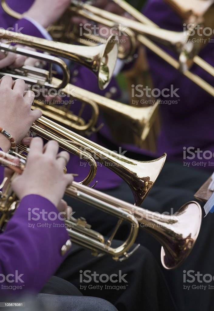 Trumpet Player's stock photo
