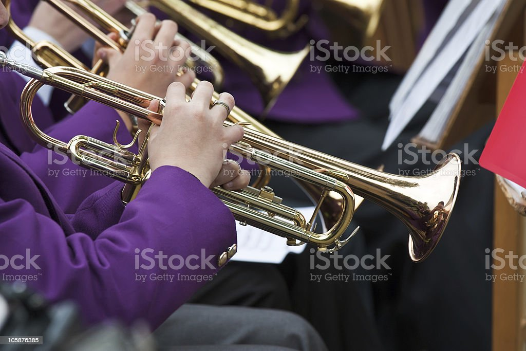 Trumpet Player's royalty-free stock photo