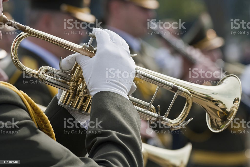 Trumpet players royalty-free stock photo