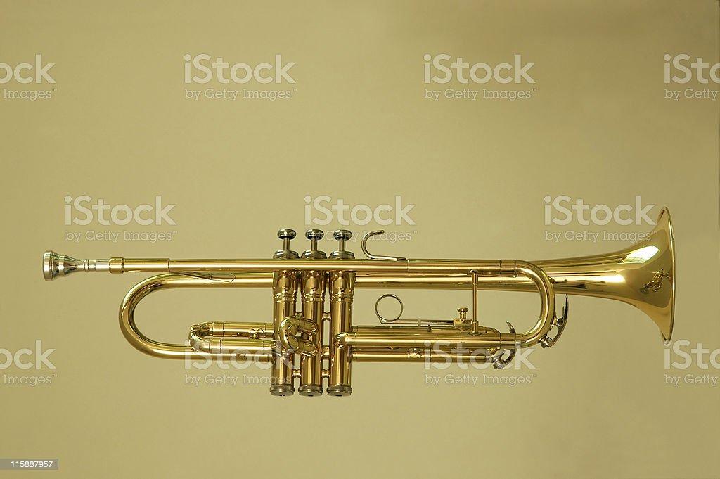Trumpet Profile royalty-free stock photo