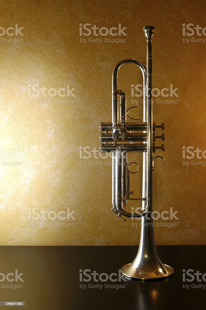 Trumpet Standing royalty-free stock photo