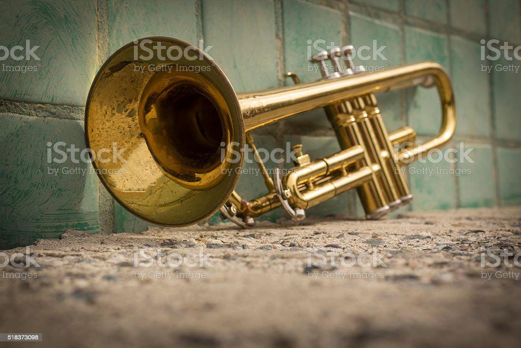 Trumpet Street Jazz stock photo