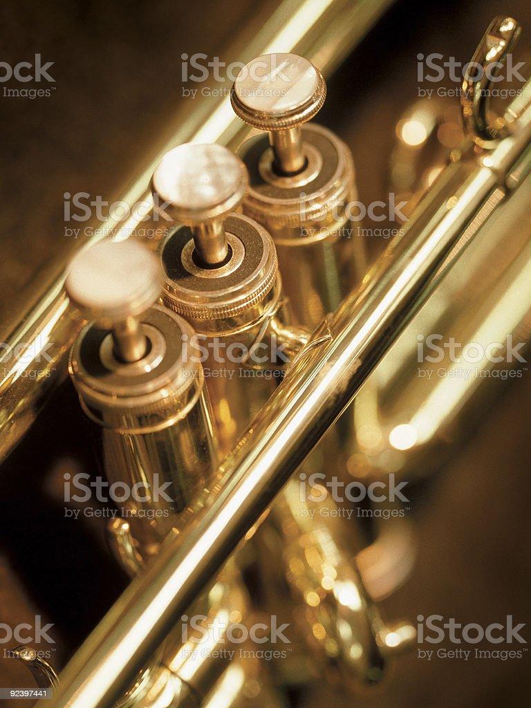 Trumpet valves royalty-free stock photo