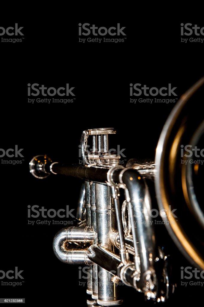 trumpet, wind instrument stock photo
