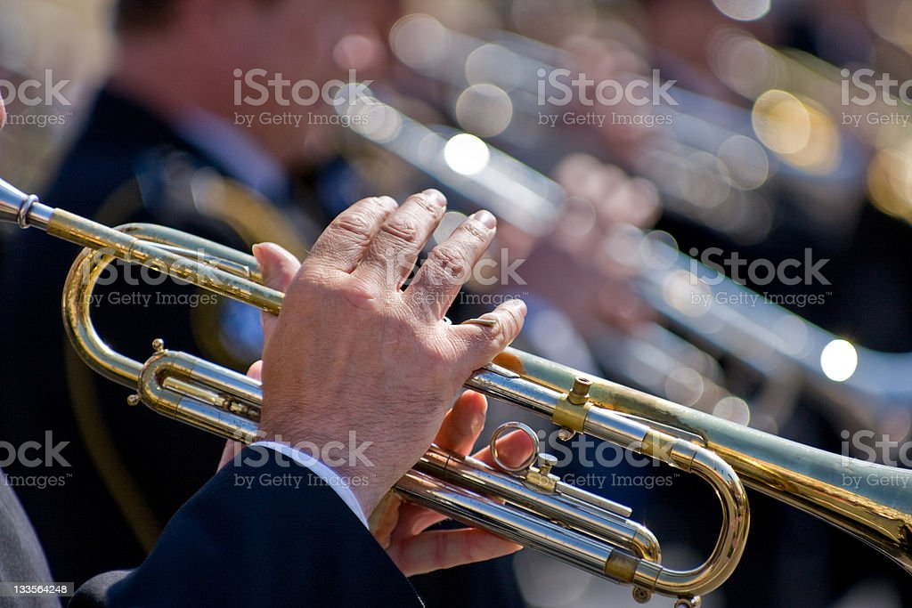 Trumpeters stock photo