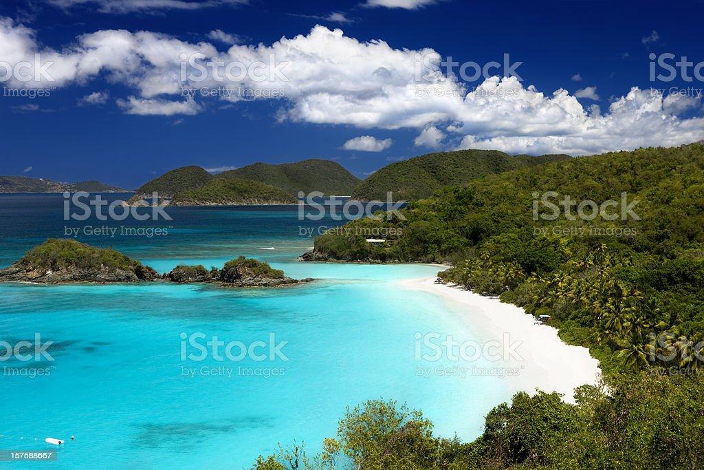 Trunk Bay beach, St. John, US Virgin Islands stock photo