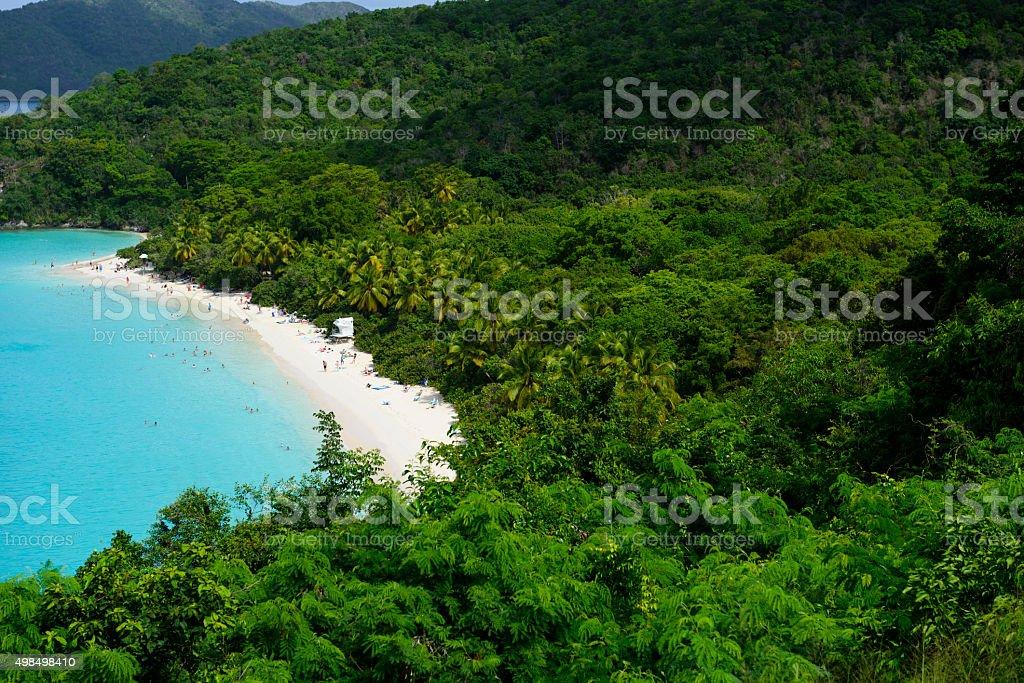 Trunk Bay on St. John, United States Virgin Islands stock photo
