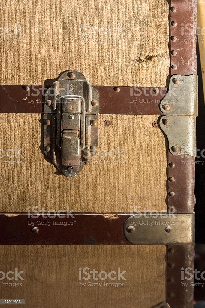 Trunk Lock stock photo