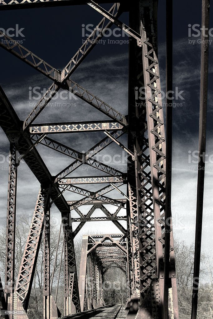 Truss Bridge royalty-free stock photo