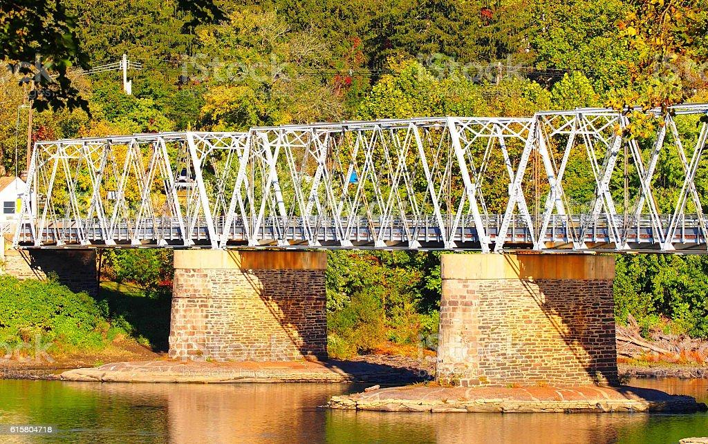 Truss Bridge stock photo