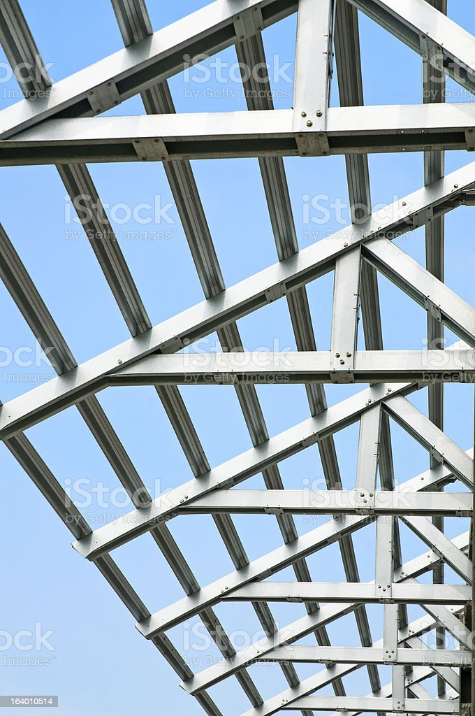 Trusses Construction Details royalty-free stock photo