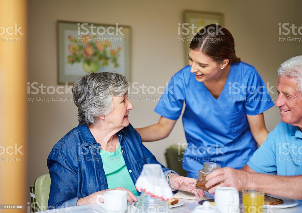 I trust breakfast was good this morning? stock photo