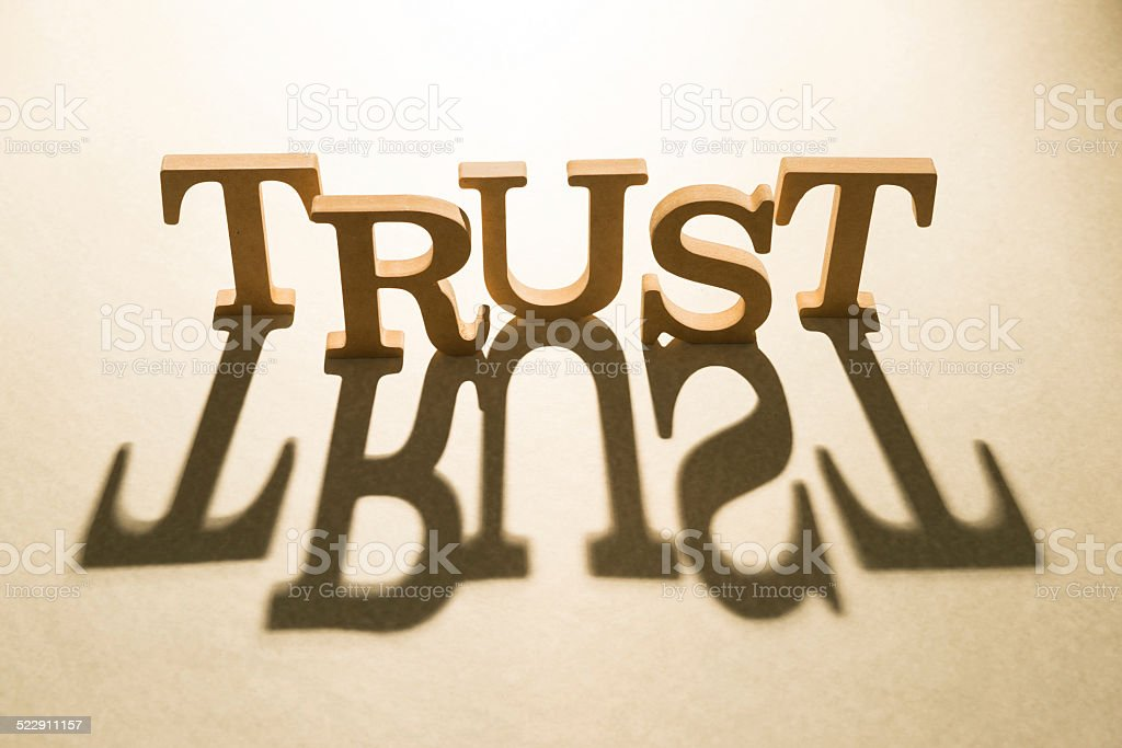 Trust concept and shadow stock photo