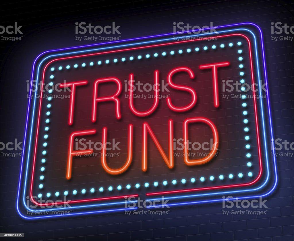 Trust fund concept. stock photo