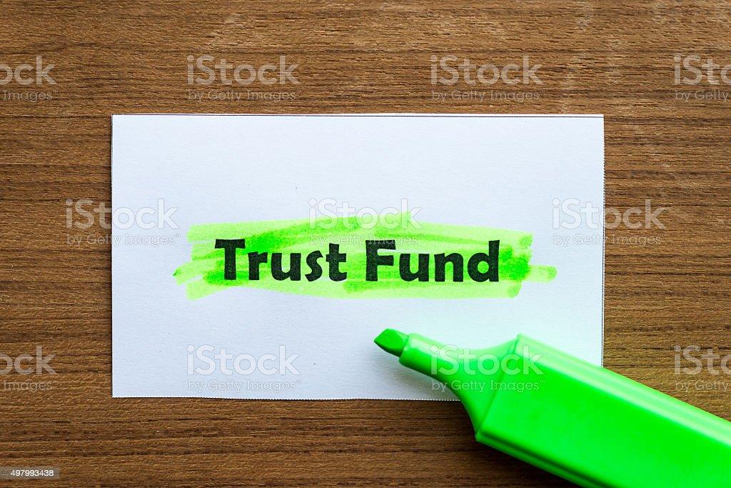 trust fund stock photo