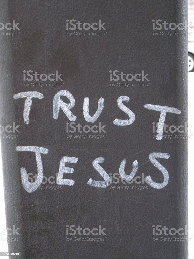 Trust Jesus stock photo