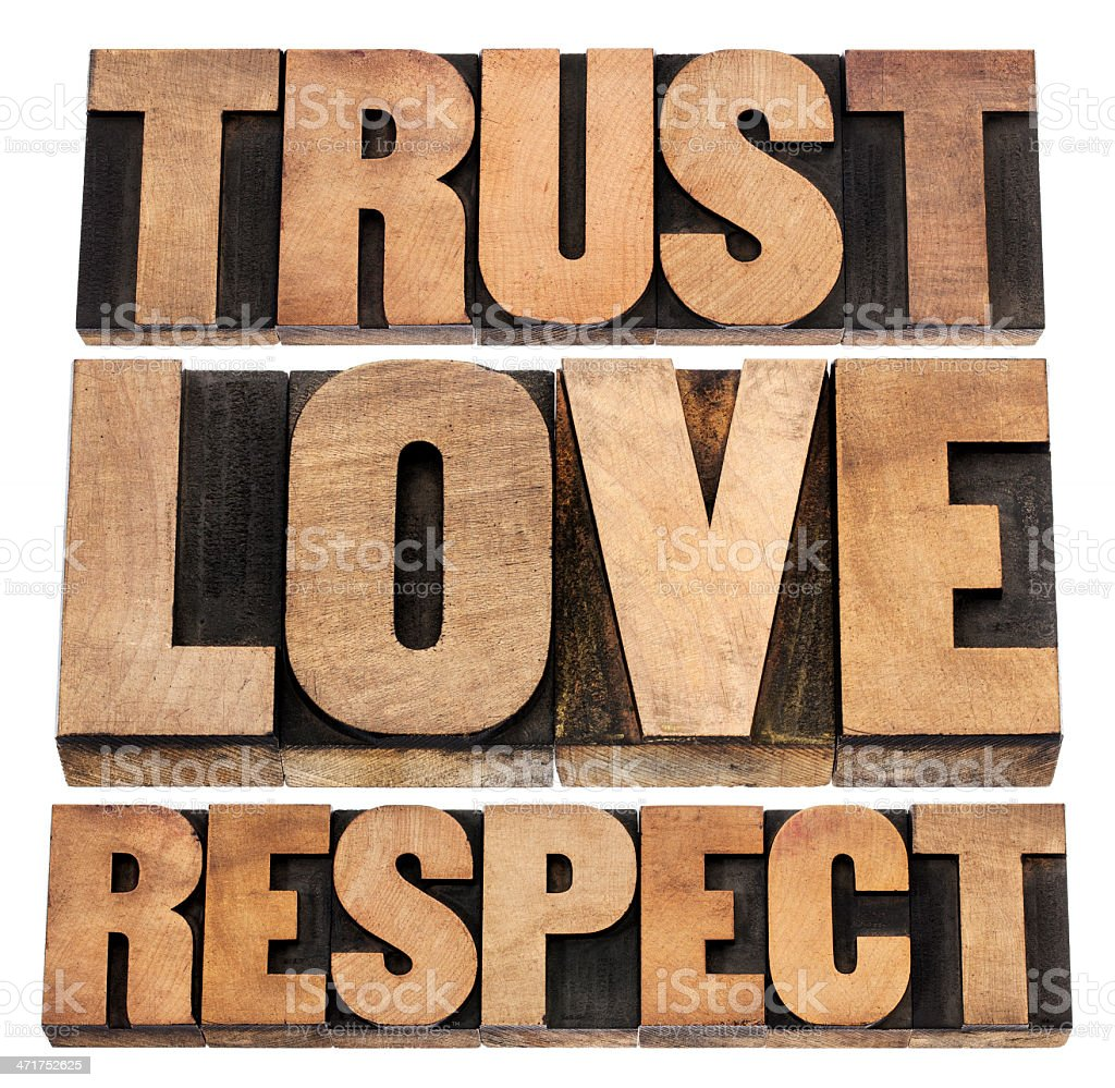 trust, love and respect royalty-free stock photo