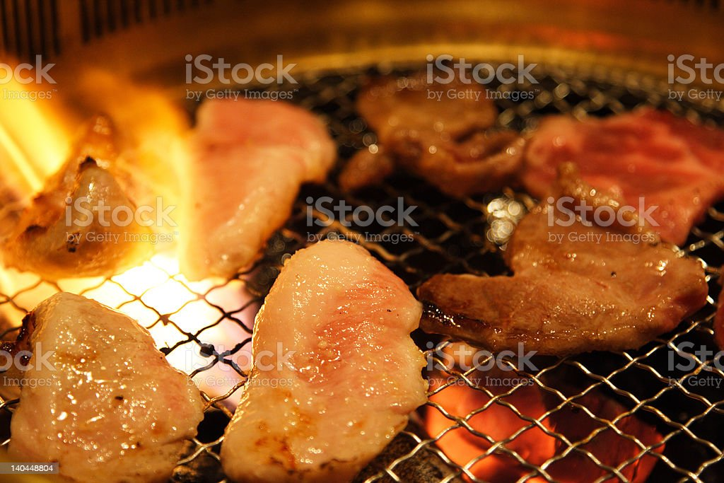 Yakiniku, japanese barbeque. stock photo
